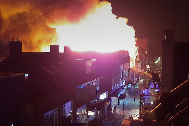 Zijdstraat in vuur en vlam