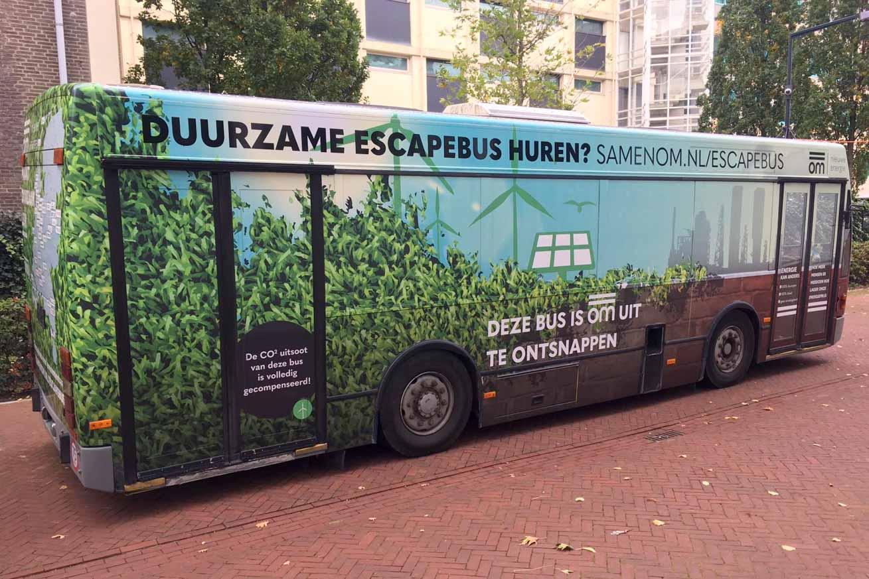 Ontsnap uit escapebus op open dag Wellant mbo