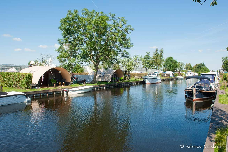 Luxe kamperen aan Aalsmeerse wateren
